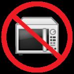 電子レンジ使用禁止